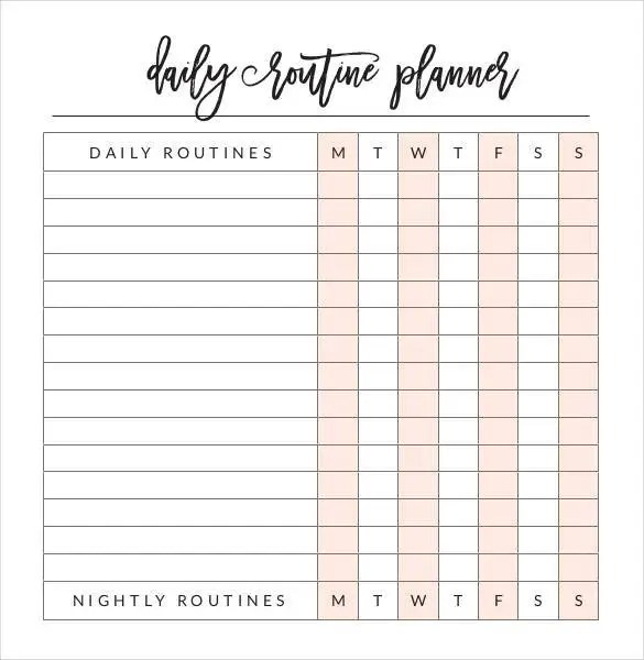 29+ Daily Planner Templates - PDF, DOC Free  Premium Templates