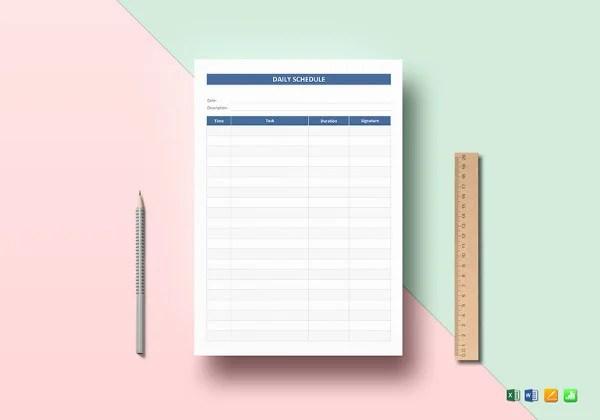 29+ Daily Planner Templates - PDF, DOC Free  Premium Templates - day planner template