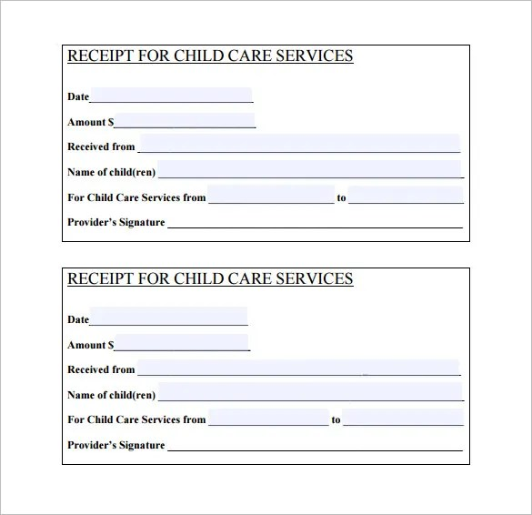 Daycare Receipt Template - 24+ Free Word, Excel, PDF Format Download - free printable receipt forms