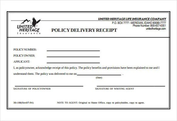 delivery receipt sample - Towerssconstruction
