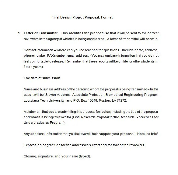 Project Proposals Template Sample Business Proposal Proposal - project proposals