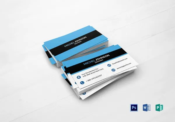 44+ Unique Business Card Templates - Word, PSD, AI, Pages Free