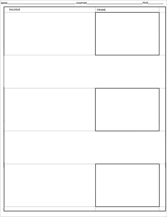 Comic Storyboard Template \u2013 10+ Free Sample, Example, Format