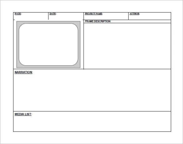 5+ Digital StoryBoard Templates \u2013 DOC, Excel, PDF, PPT Free - storyboard template pdf