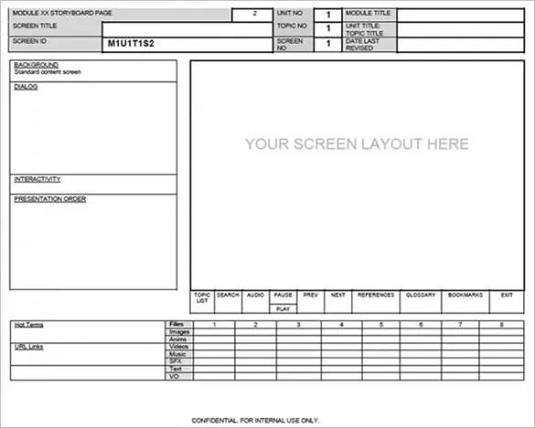 web page storyboard template