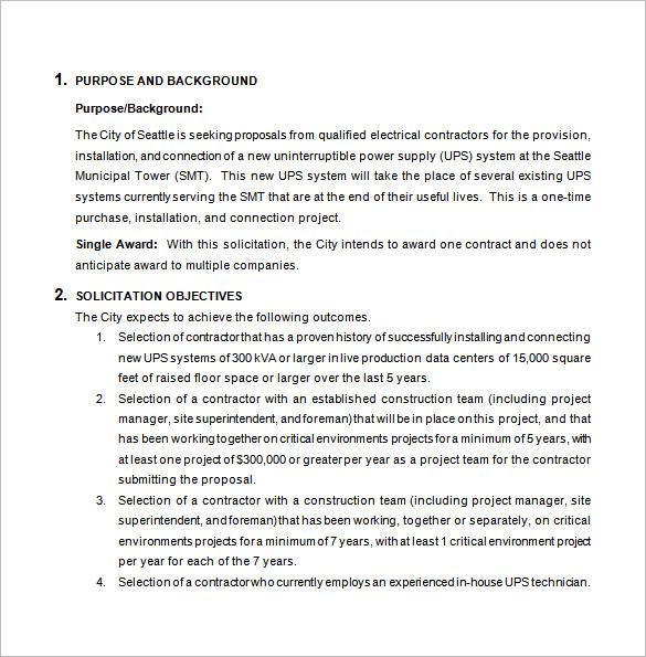 Bid Proposal Templates - 15+ Free Sample, Example, Format Download - Bid Proposal Template Free