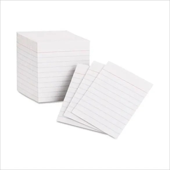 Free Index Card Template powerpoint index card template free - flash card template