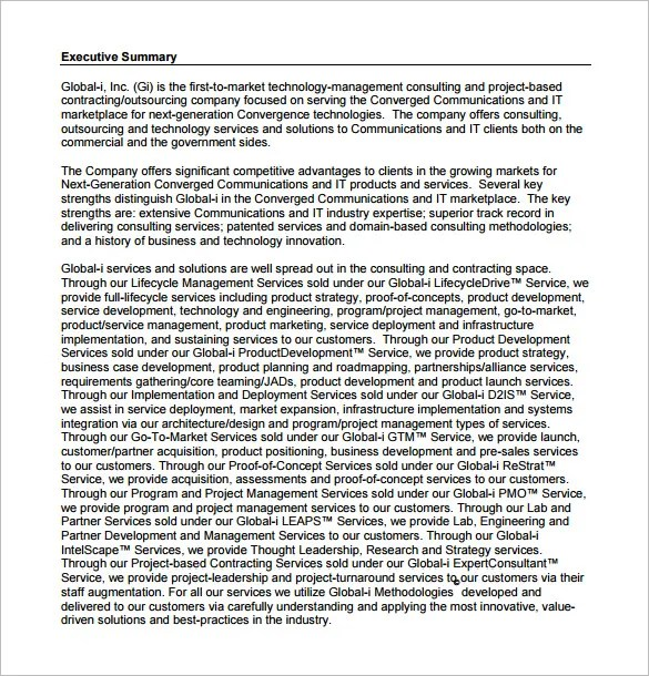 Consulting Proposal Template - 16+ Free Sample, Example, Format - proposal for services example