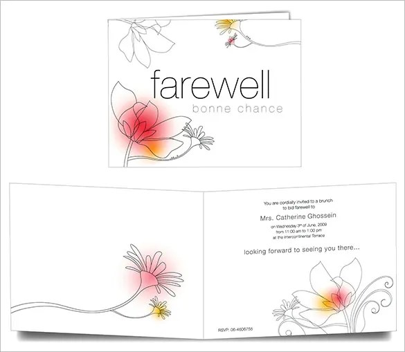 Farewell Card Template - 23+ Free Printable Word, PDF, PSD, EPS - free greeting cards templates for word
