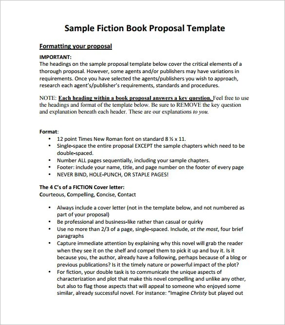 Book Proposal Template - 16+ Free Sample, Example, Format Download - academic proposal template