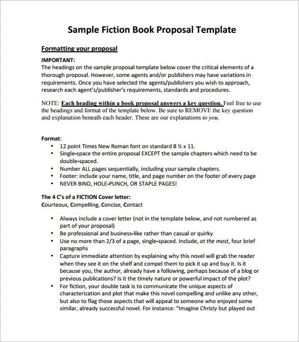 Book Proposal Template u2013 12+ Free Sample, Example, Format Download - book proposal sample