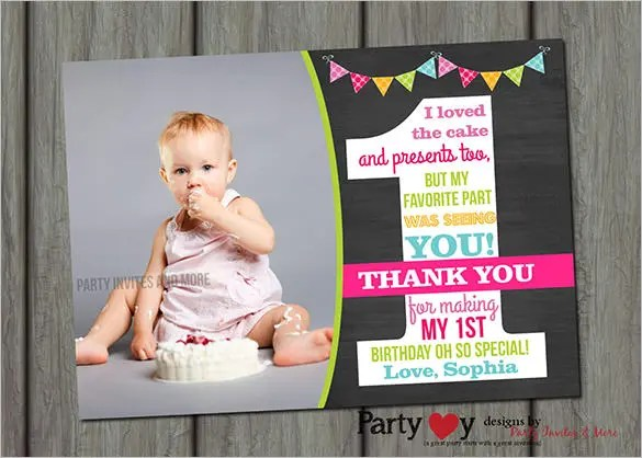 21+ Birthday Thank You Cards \u2013 Free Printable PSD, EPS Format