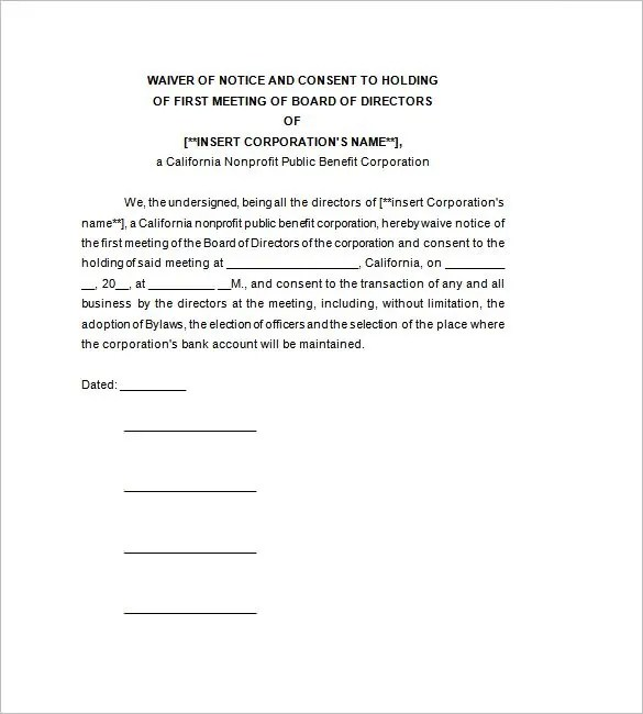 Bylaws Template Incomplete Corporate Minutes 11+ Corporate - contract amendment template