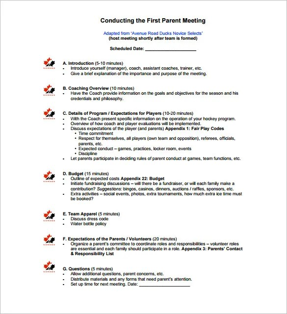 meeting outlines - Ozilalmanoof