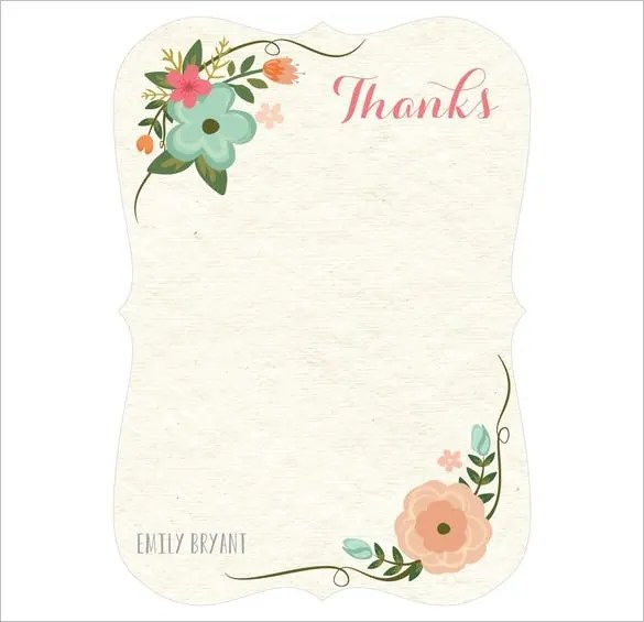 30+ Personalized Thank You Cards - Free Printable PSD, EPS Format