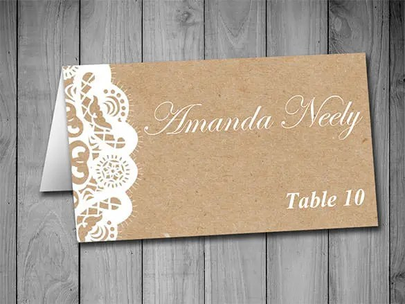 83+ Card Templates - DOC, Excel, PPT, PDF, PSD, AI, EPS Free - folded place card templates