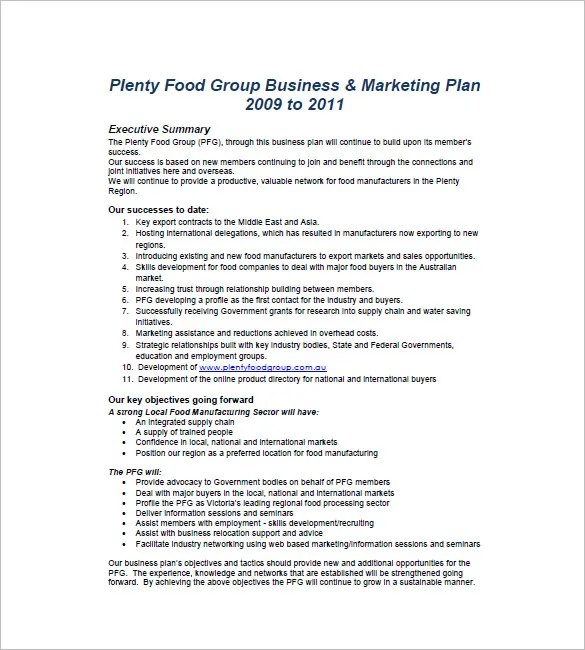 Marketing Business Plan Template - 19+ Free Sample, Example Format - marketing business plan template