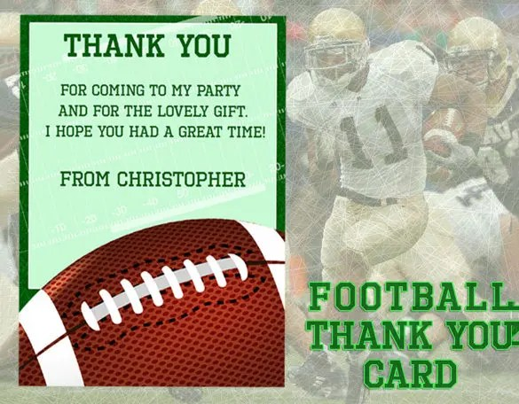 Sports Thank You Card - 21+ Free Printable PSD, EPS, Format Download
