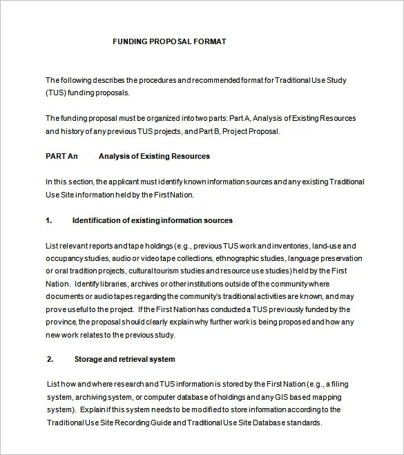 Funding Proposal Template - 15+ Free Sample, Example, Format - funding proposal template
