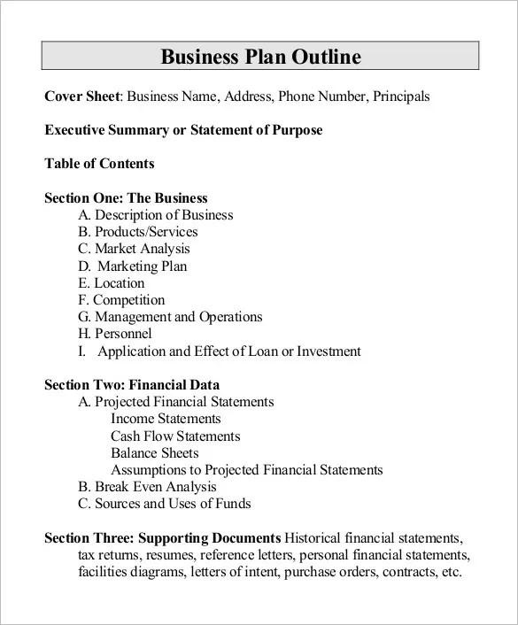 business proposal outline template - Ozilalmanoof