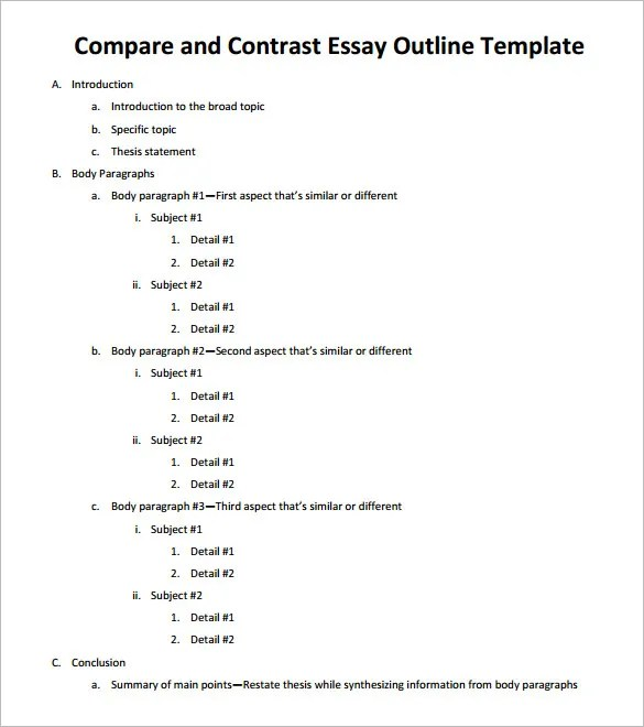 essays on compare and contrast compare contrast example essay - essay help compare and contrast
