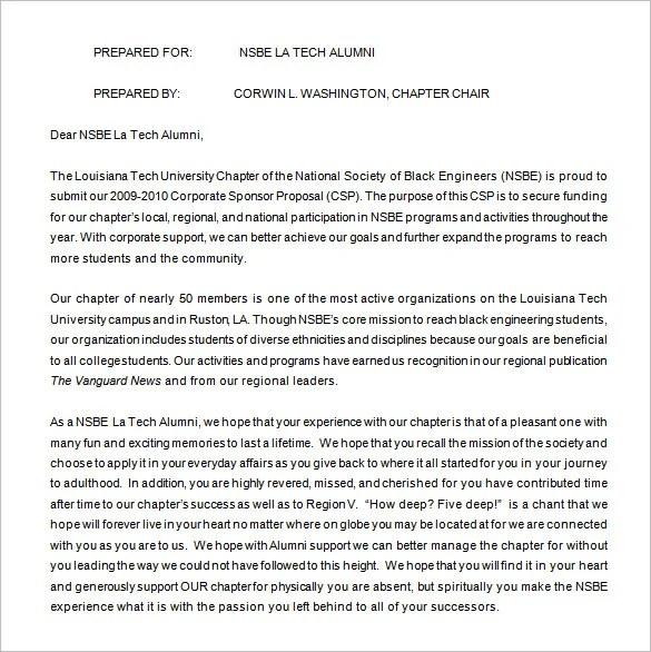 Sponsorship Proposal Template - 16+ Free Word, Excel, PDF Format - proposal template for sponsorship