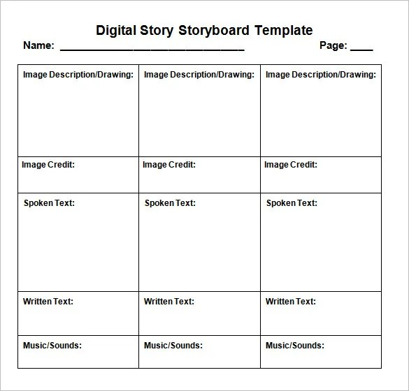digital storyboard templates hitecauto - free storyboard templates