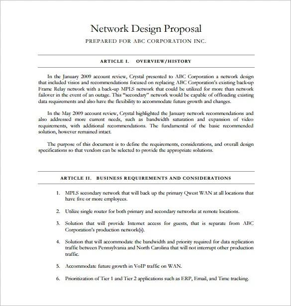 Design Proposal Templates - 18+ Free Sample, Example, Format