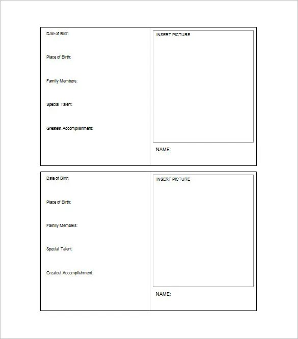 33+ Trading Card Template - Word, PDF, PSD, EPS Free  Premium - free card templates for word