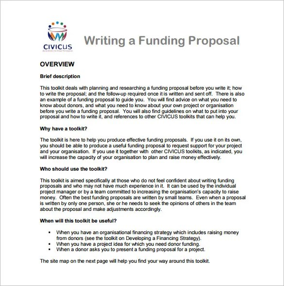 Non Profit Guides Sample Proposals Writing Proposal Templates – 14 Free Word Excel Pdf