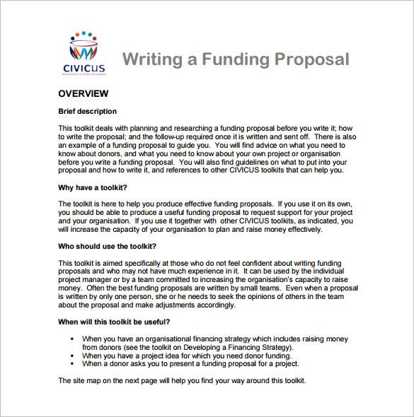 16+ Writing Proposal Templates u2013 Free Sample, Example, Format - funding proposal template