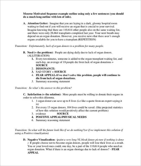 Persuasive Speech Outline Template \u2013 8+ Free Word, Excel, PDF Format