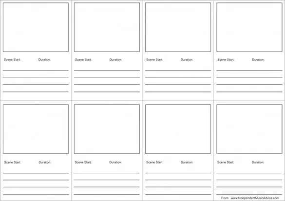 Audio \ Video StoryBoard Template u2013 7+ Free Word, Excel, PDF, PPT - free storyboard templates