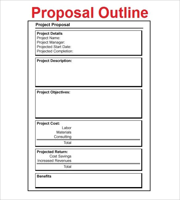 Program Proposal Template ophion - Sample Proposal Template For Project