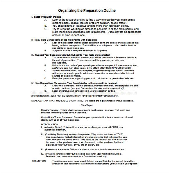Presentation Outline Template - 26+ Free Sample, Example, Format - presentation outline templates