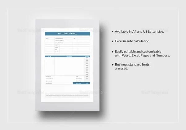 Graphic Design Invoice Templates \u2013 8+ Free Word, Excel, PDF Format