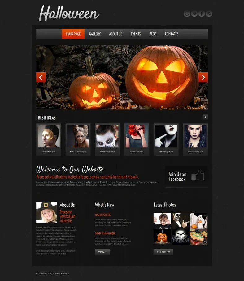 6 Halloween Website Themes  Templates Free  Premium Templates - halloween website template