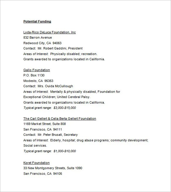 sample non profit proposal - Ozilalmanoof - Non Profit Proposal Template