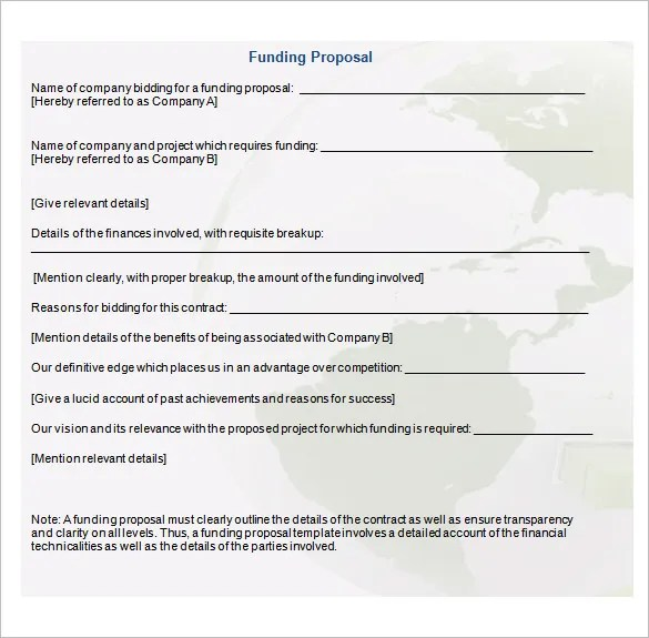 Funding Proposal Template - 15+ Free Sample, Example, Format