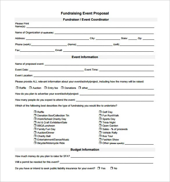 Event Proposal Template - 21+ Free Word, Excel, PDF Format Download - Event Proposal Format