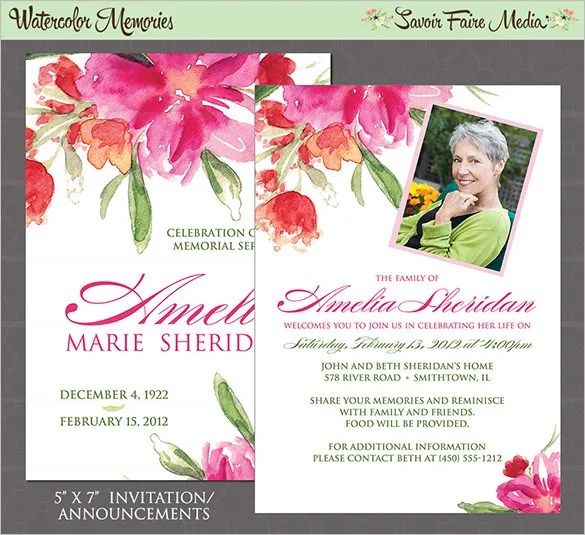 20+ Funeral Thank You Cards - Free Printable PSD, EPS Format - funeral announcement sample