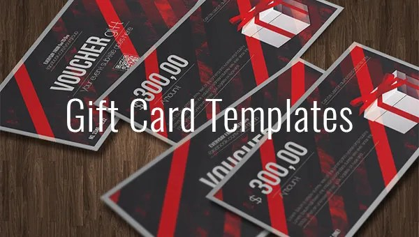 Gift Card Template - 14+ Free Sample Example Format Download Free