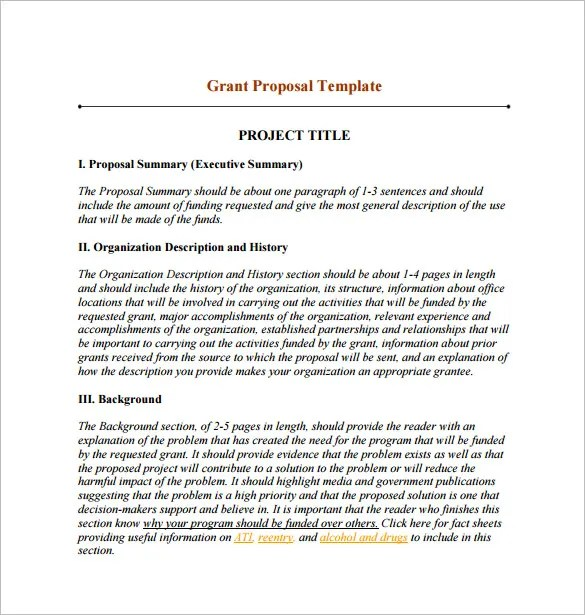 Funding Proposal Template - 13+ Free Word, Excel, PDF Format