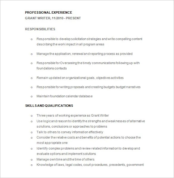 Writer Resume Template \u2013 24+ Free Samples, Examples, Format Download - write a resume