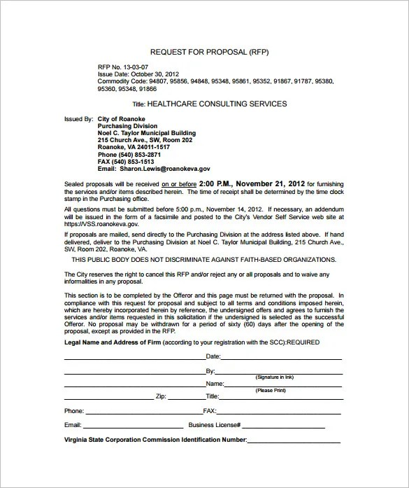 Consulting Proposal Template - 16+ Free Sample, Example, Format - it consulting proposal template