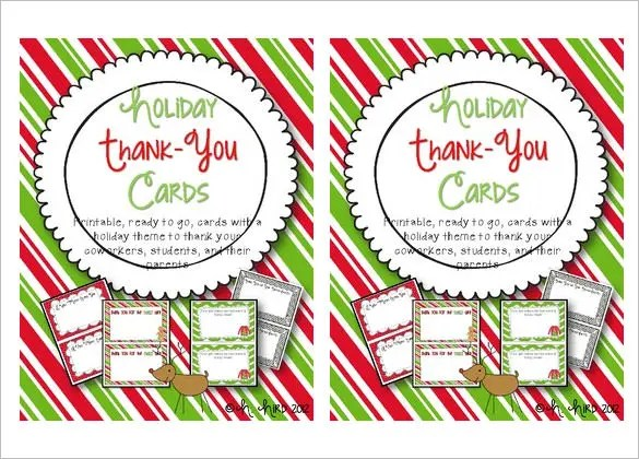 15+ Holiday Thank You Cards \u2013 Free Printable PSD, PDF, EPS Format