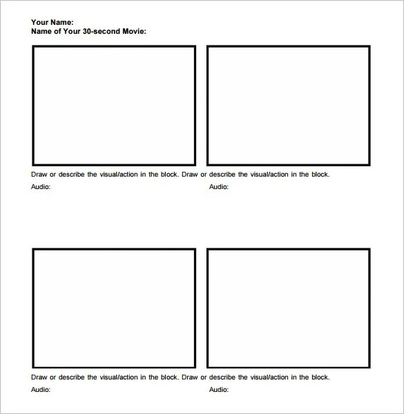 7+ Movie Storyboard Templates \u2013 DOC, PDF Free  Premium Templates