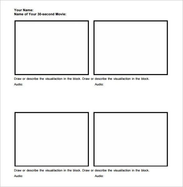 Movie StoryBoard Template \u2013 8+ Free Word, Excel, PDF, PPT Format