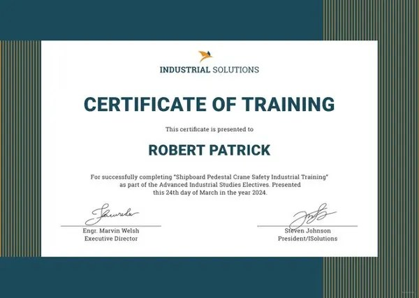 Training Certificate Template - 27+ Free Word, PDF, PSD Format - training certificate