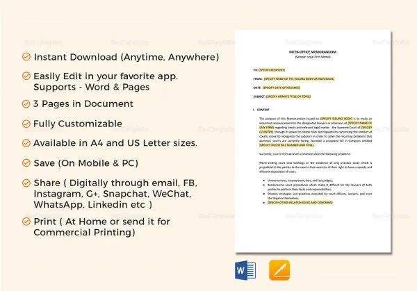 Internal Memo Templates - 16+ Free Word, PDF Documents Download - Internal Memo Templates